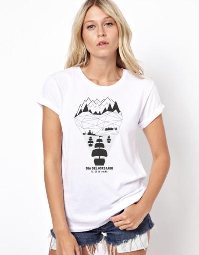 Camiseta Chica Blanca